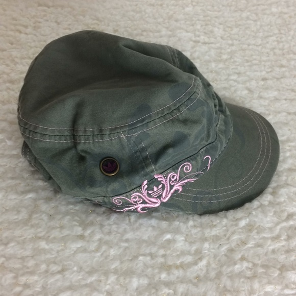67c17228caf39 adidas Accessories - Adidas women s hat army green trimmed in pink